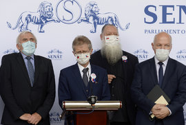 Tisková konference šéfa Senátu Miloše Vystrčila po návratu z Tchaj-wanu (5.9.2020)