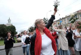 Běloruská opoziční politička Maryja Kalesnikavová