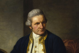 Oficiální portrét Jamese Cooka z roku 1775