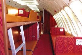 Letecké společnosti si dávaly velmi záležet na interiéru.