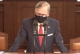 Předseda ODS Petr Fiala v poslanecké sněmovně. (16.9.2020)