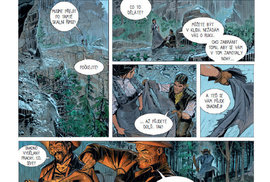 Starý kovboj se vrací v čele bandy desperátů a dožaduje se pravdy o smrti svého adoptovního syna