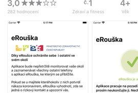 Aplikaci eRouška najdete v Google Play nebo v Appstoru