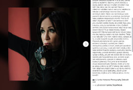 Zpěvačka Bára Basiková se rozohnila na facebooku