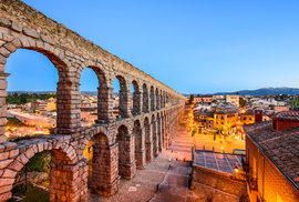 Segovia: Významné historické město ve středním Španělsku zdobí monumentální římský akvadukt