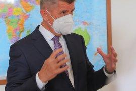 Premiér Andrej Babiš při rozhovoru pro Blesk