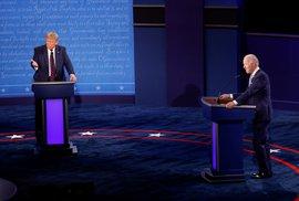 Předvolební debata v USA: Americký prezident Donald Trump (vlevo) a demokratický kandidát Joe Biden (29. 9. 2020)