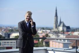 Předseda Českého olympijského výboru Jiří Kejval v Olomouci před tiskovou konferencí k olympiádě dětí a mládeže 2021