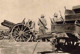 Italské dělostřelectvo u Tembienu