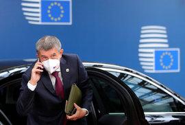 Andrej Babiš na summitu EU v Bruselu (15.10.2020)