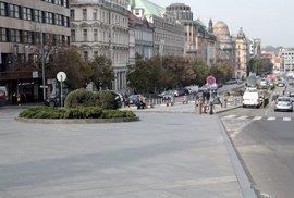 Praha se po zavedení přísnějších opatření znovu vyprázdnila, 22. října 2020.