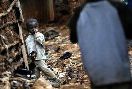 Ve slumu Kibera žije až 300 000 lidí na kilometru čtverečném.