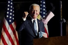 Joe Biden při prvním povolebním projevu.