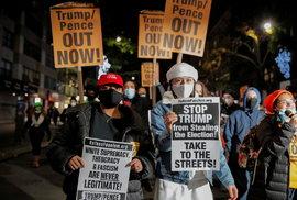 V některých amerických městech už začínají protesty. Například v New Yorku.