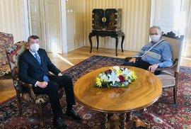 Premiér Andrej Babiš (ANO) v Lánech u prezidenta Miloše Zemana (5. 11. 2020)