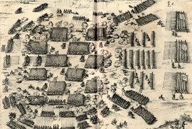 Koncentrovaná ukázka boje pěších a jezdeckých formací