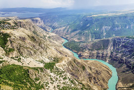 Kaňon řeky Sulak