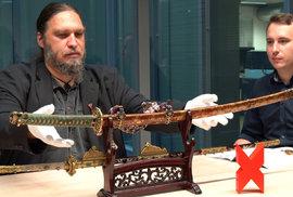 Nejvzácnější sečná zbraň v Česku: Japonský císařský meč má hodnotu několika milionů. Jak se sem dostal?