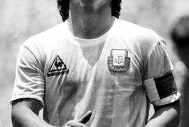 Argentinská ikona. Diego Maradona při finále MS 1986.