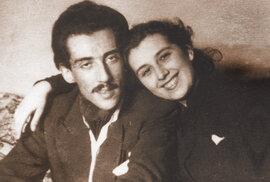 S první manželkou Stellou Zázvorkovou v dobách velké poválečné zamilovanosti