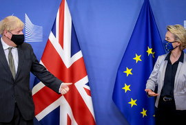 Jednání britského premiéra Borise Johnsona s šéfkou Evropské komise Ursulou von der Leyenovou (9.12.2020)