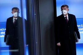 Premiér Andrej Babiš (ANO) na summitu v Bruselu (11. 12. 2020)
