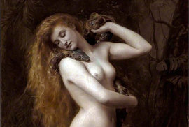 Muži se nemohou zbavit dojmu, že mezi ženou a hadem bylo od počátku nějaké spiknutí. Na malbě Johna Colliera je Lilit, ale v Evě toho z bájné první Adamovy ženy hodně zbylo, 1889