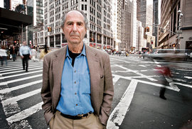 Philip Roth, autor románové předlohy chystaného snímku, v New Yorku.