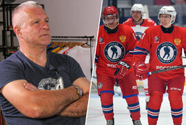 Jiří Hrdina hodnotí Vladimira Putina na ledě: Hrát hokej neumí, střílet se docela…