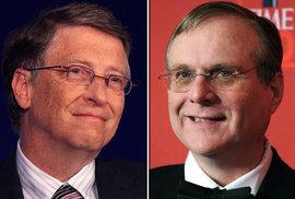 Bill Gates (vpravo) se snažil Paula Allena vystrnadit y firmy