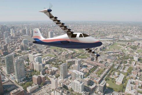 Elektrické letadlo od NASA: X-57 Maxwell poletí potichu na baterky