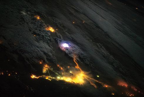 ISS hlídá blesky z vesmíru