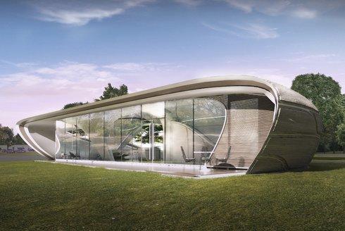 Curve Appeal: Dům z 3D tiskárny