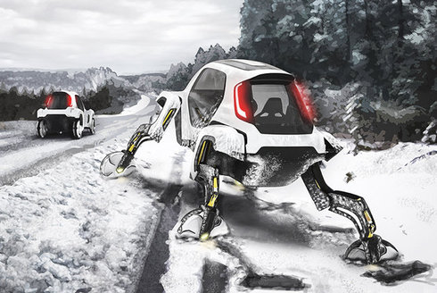 Auto nebo robot? Hyundai Elevate