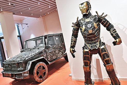 Galerie ocelových figurín: Svářené umění