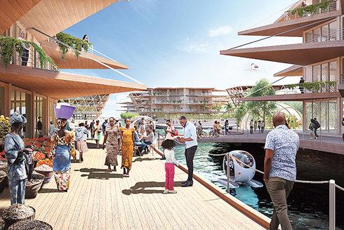 Kolonie Oceanix: Bydlení budoucnosti na moři