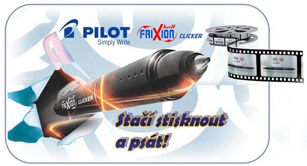 Výherci soutěže o 3 balíčky Pilot FriXion Clicker