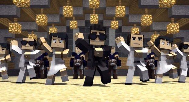 Minecraft Style: Šílená parodie na Gangnam Style