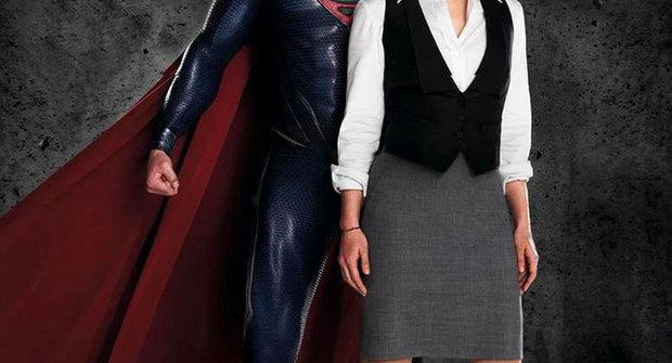 Druhá fotka Supermana, první fotka Lois