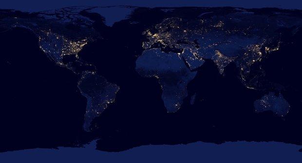 Pohled od světa: Mapa světla