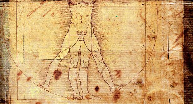 Nejslavnější kresba: Lidské tělo jako vzor dokonalosti