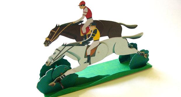 Animace vystřihovánky Dostihoví koně