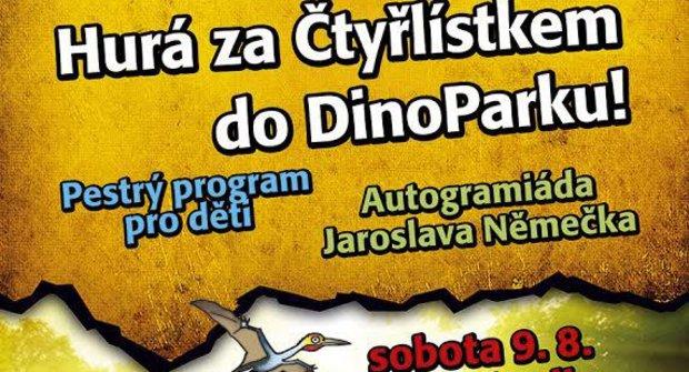 Čtyřlístek poznává dinosaury v DinoParku Harfa Praha