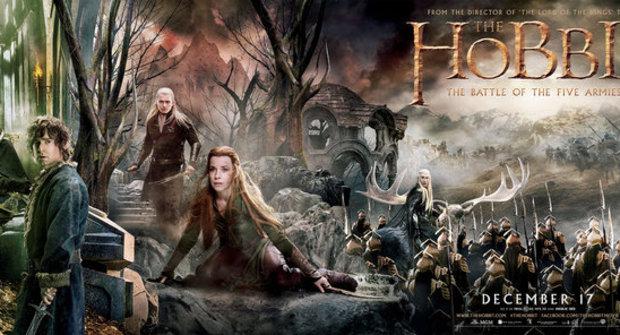 Trable ve Středozemi: Šíleně velký plakát na film Hobit: Bitva pěti armád