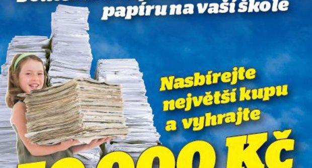 Nasbírejte největší kupu papíru a vyhrajte 50 tisíc korun!