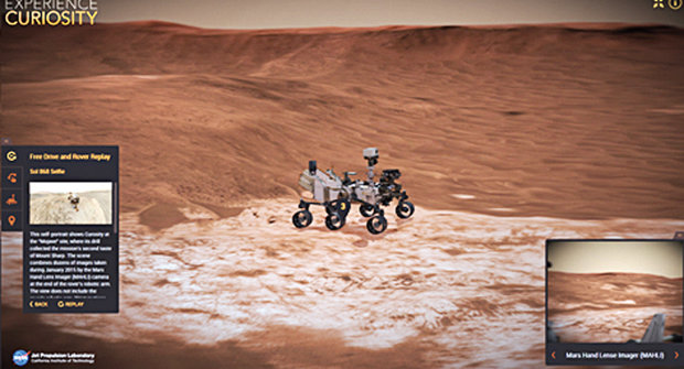 Řidičák na Marsu: Projeďte se v simulátoru od NASA