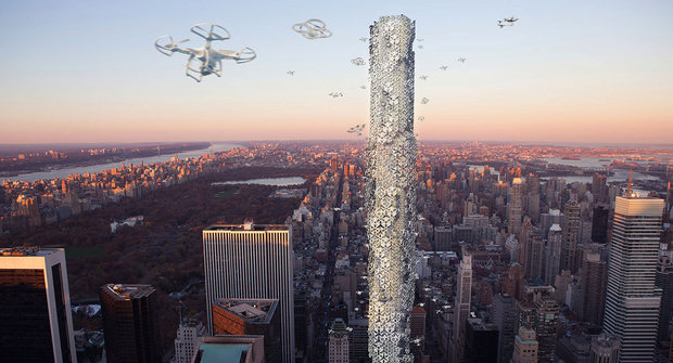 Město zítřka: Mrakodrapy pro kompy a drony