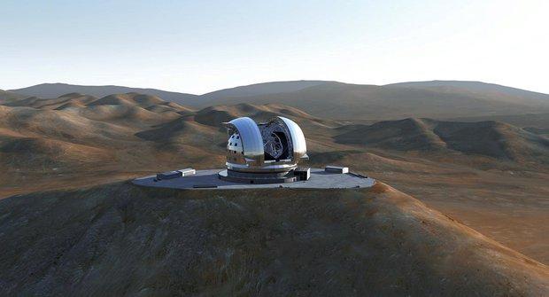 Největší astronomický dalekohled staví Evropa