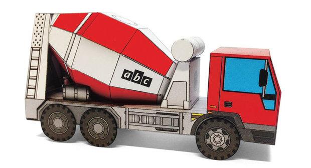 Vystřihovánky v novém ABC 14: Domíchávač betonu a mrakodrap Kingkey