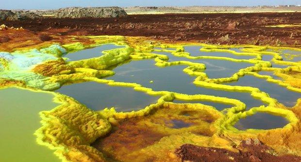 Danakilská proláklina: Výlet mimozemskou krajinou